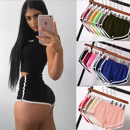 fashion wholesale yoga pants UK - 14styles Sports solid shorts Women's home casual style solid candy color fashion yoga beach pants outdoor sport pants FFA4230