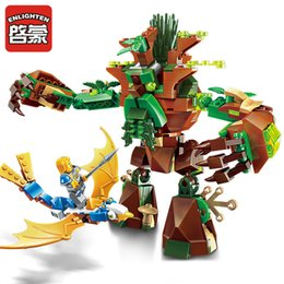 block wars Australia - Enlighten Building Block War of Glory Castle Knights War Of Ancient Tree 1 Figures 286pcs Educational Bricks Toy Boy Gift