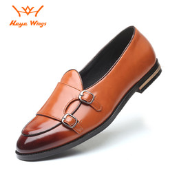 brown monk strap NZ - Mens Loafers Wedding Party Dress Shoes Black Brown Monk Strap Casual Fashion Men Slip On Shoes