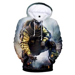 Discount purple hoodie men - fashion Rainbow Six Siege print sport 3d hoodies pullover men women Hoodie hoody casual Long Sleeve 3D Hooded Sweatshirt