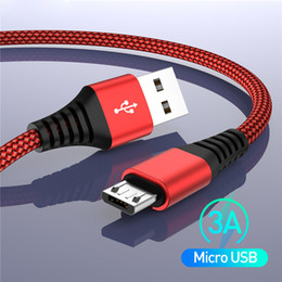 $enCountryForm.capitalKeyWord NZ - 3A Micro USB Cable Fast Charge USB Data Cable Cord Micro usb Power Supply Cable Fast Charging for Android Samsung Xiaomi Redmi Note