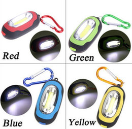 key chain battery Canada - Portable Mini Keychain Pocket Torch 3 Modes COB mini key ring chain outdoor LED Light Flashlight Lamp Multicolor Mini-Torch With Battery