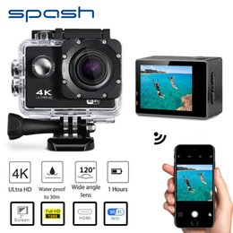 video stabilizers 2019 - spash Waterproof Video Camera 4K HD 1080P Sport Camcorder DVR Camcorder WIFI Remote Control DV Action Recoder Wide Angle