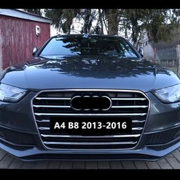 $enCountryForm.capitalKeyWord NZ - 11pcs Stainless Steel Car Front Grill Grille Decorative Cover Trim Strips For Audi A4 B8 2013-2016 Exterior Decals