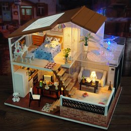 $enCountryForm.capitalKeyWord NZ - Toy For Kid Diy Doll House Wooden Houses Miniature Dollhouse Furniture Kit Creative Toys For Children Birthday Cool Gift Mb068