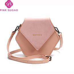 Cross bow online shopping - Pink sugao designer luxury handbags purses women shoulder bag new fashion geometric crossbody bags pu leather factory wholesales bag