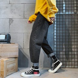$enCountryForm.capitalKeyWord NZ - Vintage Design Denim Straight Elasticity pants Fashion Mens Classic Jeans Slim Fit Tapered Trousers Hip Hop Jogger Jeans Men