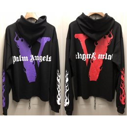 Chinese  Vlone Palm Angels Hoodie Sweatshirt Men Women Jackets Tracksuit Hip Hop Streetwear Harajuku Winter Brand Coat Hooded Fashion Pullover 2019 manufacturers
