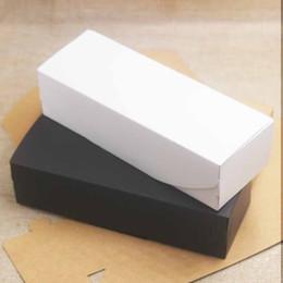 $enCountryForm.capitalKeyWord Australia - 20pcs Kraft Paper Box Cardboard Handmade Soap Boxes Black Packaging Jewelry Box White Craft Paper Gift Boxes Fashion 19.2x7x5cm