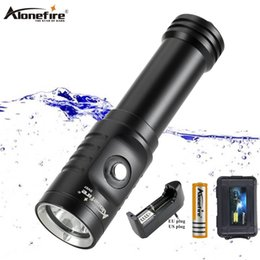 flash drive fish Canada - Alonefire DV57 underwater scuba diving flashlight torch Flash light Waterproof XM L2 Lantern lamp Dive Professional Fill light 50m diving