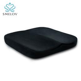 Office Chair Car Australia - black soft Comfort Coccyx Orthopedic Memory Foam Seat Cushion for Chair Car Office Home Bottom Seats Massage Cushion pillow