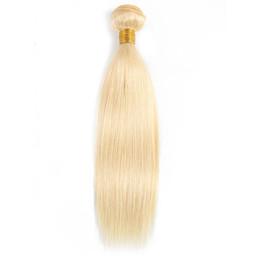 Brazilian Straight Human Hair Bundles UK - #613 Blonde Straight Hair Weave Bundles Brazilian Peruvian Indian Malaysian Remy Human Hair Extensions 1 or 2 Bundles 10-28 inch Wholesale
