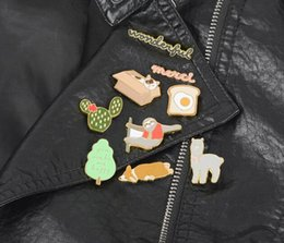 Wholesale African Shirts Australia - 2019 New fashion 9 Type Classic Cartoon icons Style Enamel pin Badge Buttons Brooch Anime Lovers Shirt Denim Jacket lapel pin