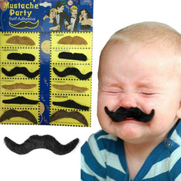 Mustache Birthday Party Decorations Australia - Masquerade Moustache Party Supplies 12pcs Creative Black Brown Funny Mustache Pirate Birthday Party Decoration Kids Fake Beard