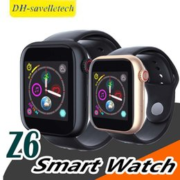 $enCountryForm.capitalKeyWord Australia - For apple iphone New Z6 Bluetooth 3.0 Smart Watch Supports Android Phone SIM Card And Camera with Camera Touch Screen Support SIM TF Card