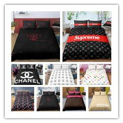 Solid gray bedding online shopping - Fashion Bedding set duvet cover printing set Single Double King Size of Bedclothes