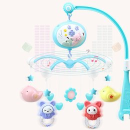 cot toys for babies Canada - Baby Toys Crib Mobiles Rattles Music Educational Toys Bed Bell Carousel for Cots Projection Infant 0-12 Months
