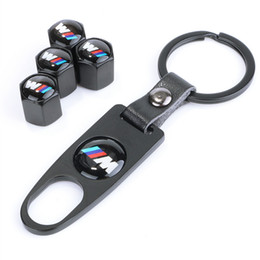 $enCountryForm.capitalKeyWord Australia - BMW Car Tire Nozzle Cap Anti-theft Personality Valve Cover Modification+wrench Keychain