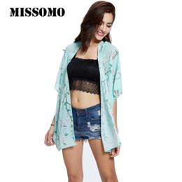 $enCountryForm.capitalKeyWord Canada - MISSOMO Women Boho Floral Printed Chiffon Loose Shawl Kimono Cardigan Boho Beach Cover up Shirt Outwear blusa mujer feminino