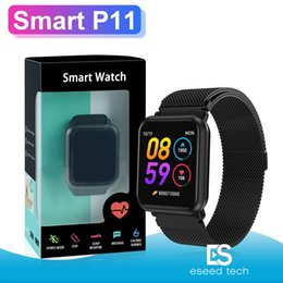 smart watch korean 2019 - P11 smart watch fitness tracker reloj inteligente sport Hart Rate PK N88 smartwatch for apple watch DZ09 fitbit with pac