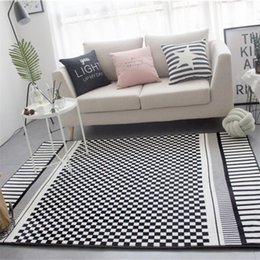kitchen mat rug Australia - Fashion Modern Mosaic Checked Plaided Black White Print Door Kitchen Mat Living Room Bedroom Parlor Area Rug Decorative Carpet