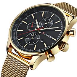 Luxury Fashion Brand Quartz Watch Australia - New Curren Gold Quartz Watches Men Fashion Casual Top Brand Luxury Wrist Watches Clock Male Military Army Sport Steel Clocks Y19051603