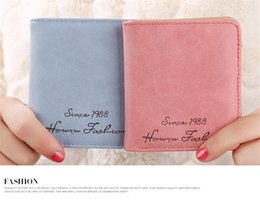 Discount case phone silk - 2019 New Women Wallet Coin Case Purse for Phone Card Wallet Leather Purse Ms Frosted Short Vintage Buckles Notebook