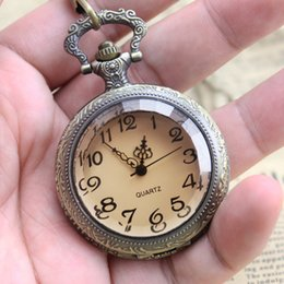 Watch Student Australia - 2018 Female girl flip transparent large digital pocket watch for students exam old men ladies Waist chain table watch