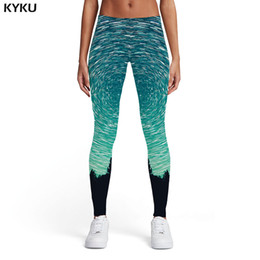 $enCountryForm.capitalKeyWord NZ - KYKU Brand Galaxy Leggings Women Sport Dizziness Sexy Forest Trousers Gothic Ladies Womens Leggings Pants Jeggings