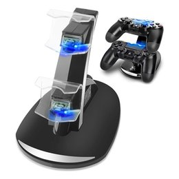 $enCountryForm.capitalKeyWord NZ - Dual Controllers Charger Charging Dock Stand Station For Sony PlayStation 4 PS4 PS 4 Game Gaming Wireless Controller Console