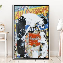 $enCountryForm.capitalKeyWord Australia - Mr Brainwash Police Child Graffit HD Canvas Painting Print Living Room Home Decor Modern Wall Art Oil Painting Poster