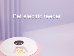 Automatic Timing Pet Electric Feeder 6 Bowl Grids Music Reminder Anti-Skid Bottom Dog Cat Rabbits Feeding Drinking Supplies
