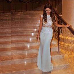 $enCountryForm.capitalKeyWord Australia - 2019 New Knitting Scoop Neckline Tea Length Custom Made Evening Dress Elegant Sleeveless Coat Spandex Straight Prom Dresses