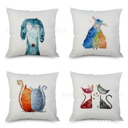 handmade crochet pillow Canada - Cartoon Animal Gogo Flax Embrace Pillow Case Imitate Mabaozhen Automobile Sofa Back Cushion Cushion Backrest Pillow