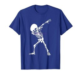 skeleton t shirts wholesale UK - new men shirt Dabbing Skeleton Shirt Funny Halloween Dab Skull T