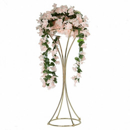Decoration For Party Tables NZ - 10PCS Vases Gold Flower Stand 82CM Metal Road Lead Brief Table Wedding Centerpiece Flowers Rack For Event Party Home Decoration