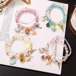 $enCountryForm.capitalKeyWord Australia - Simple new summer fresh ocean wind beaded crystal bracelet female hand jewelry to send girlfriends gift bracelet hot sale