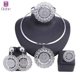 $enCountryForm.capitalKeyWord Australia - Latest Best Quality Fashion Italian Jewelry Dubai Crystal Jewelry Sets African Women Big Necklace Bangle Earring Ring Jewellery J190523