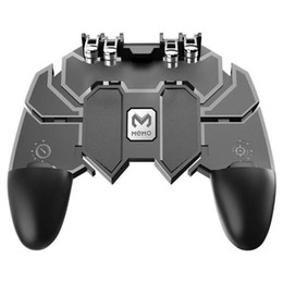 mobile controller 2019 - AK66 Six Finger Trigger for PUBG Mobile Gamepad Controller Free Fire Key Button Joystick Gamepads L1 R1 cheap mobile con