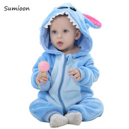 $enCountryForm.capitalKeyWord Australia - Infant Romper Baby Boys Girls Jumpsuit New Born Bebe Clothing Toddler Pajamas Baby Clothes Rabbit Stitch Romper Baby Costumes MX190720