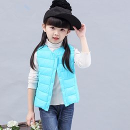 Style new jacketS for boyS online shopping - Children s warm vest for girls boys kids warm waistcoats in winter autumn spring lightweight letter new style and cheap jacket