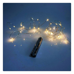 Starry String Lights Wholesale Australia - Wine Bottle Lights Cork Shape Starry Warm White LED String Lights for Bachelorette Party Holiday Wedding Waterproof long life