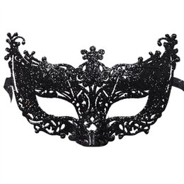 China Venetian Mask Glitter Hollow Out Fox Design Cosplay Mask Masquerade Masks Costume Carnival Party Performance Mask For Women suppliers