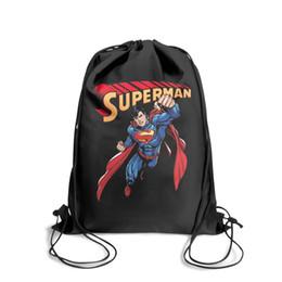 $enCountryForm.capitalKeyWord NZ - Drawstring Sports Backpack Superman Rainbow Prideoutdoor convenient Travel Beach Pull String Backpack