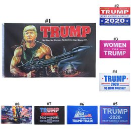 Wholesale Fashion Trump 2020 Flag 90*150CM Classic Donald Keep America Great Digital Print USA Banner Home Party Decor TTA1480