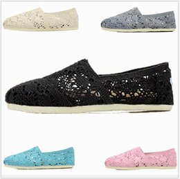 Spring Fall Canvas Shoes Australia - 2019 Spring summer Casual hollow Shoes Women Men Classics TOM MRS Loafers Canvas Slip-On Flats shoes Lazy shoes Flats Espadrilles Sneakers