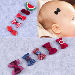 $enCountryForm.capitalKeyWord Australia - hair clip 5 Pcs Set Baby Girls Bowknot Hair Clip Sets Toddler Kids Crown Hairpins Infant Child Star Headgear Children's Floral Headwear