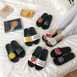 female home slippers Australia - Adisputent Women Slippers Torridity Beach Flops Home Slippers Fashion Lovely Female Casual Slip On Fruit Woman Shoes