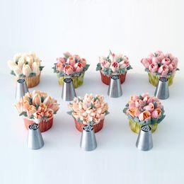 $enCountryForm.capitalKeyWord NZ - 7Pcs Set Russian Nozzles Tulip Tips Icing Piping Nozzles Cream Pastry Decorating Tips Set Cake Cupcake Decorator Confeitaria