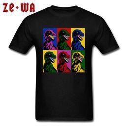 c5a37d4c Dinosaur Pop Art T-shirts Men Black Tshirt High Quality Youth Thanksgiving  Day T Shirt Custom Tops & Tees O Neck 100% Cotton